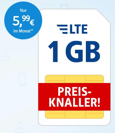 Preisknaller – All-Net jetzt 1€ günstiger bis 31.03.2018